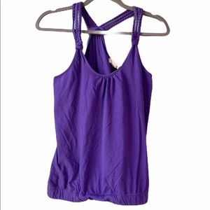 Purple Racerback Braided Tank | M
